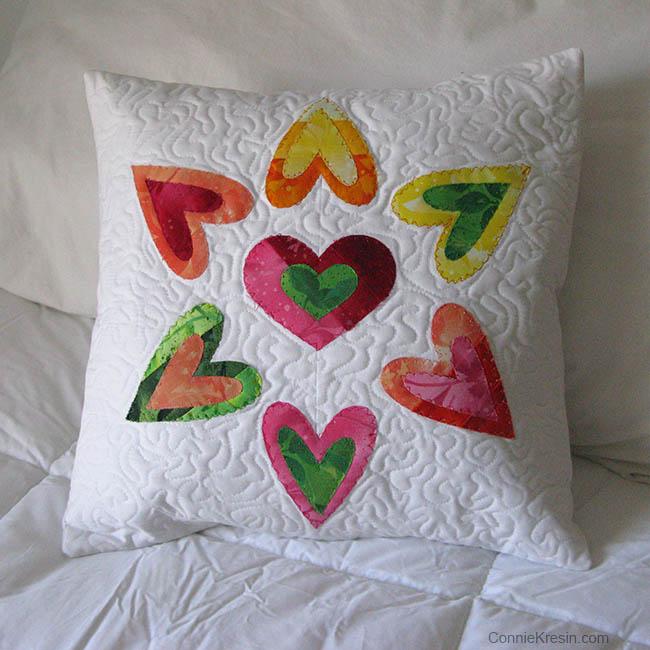 AccuQuilt Queen of Hearts pillow tutorial