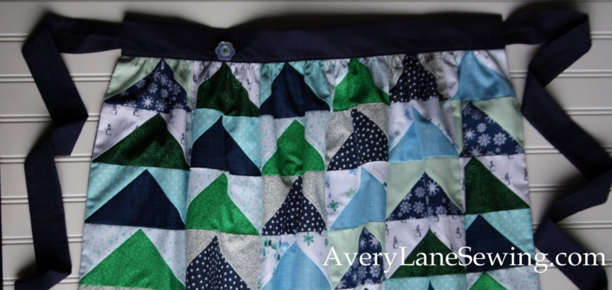 AccuQuilt Flying Geese Hostess Apron Sewing Tutorial finished apron