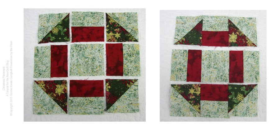 How to piece the Churn Dash quilt block