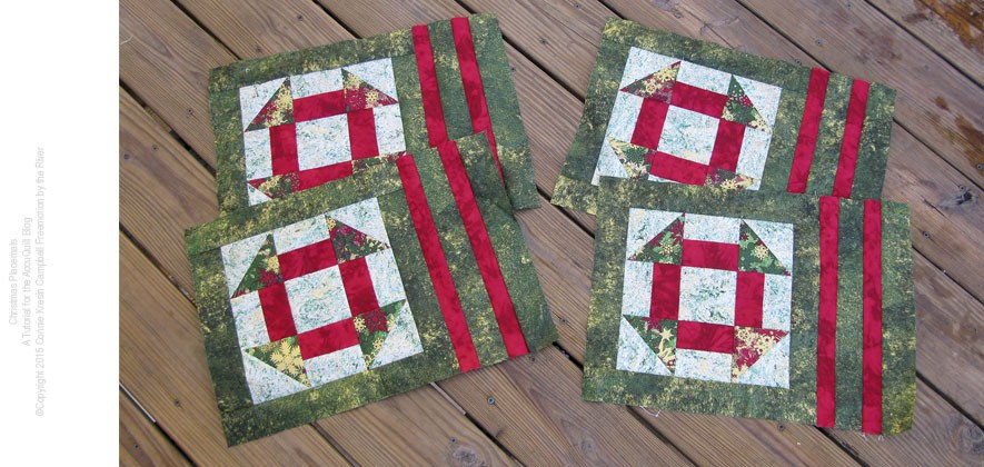 Fast and easy pattern for 4 place mats