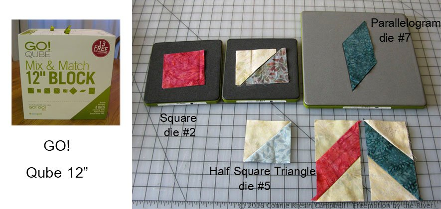 Qube dies used in table topper tutorial