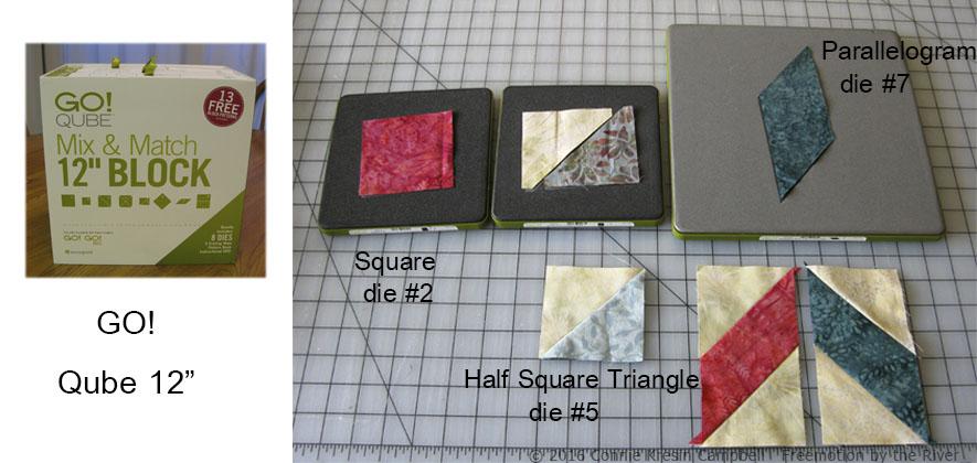 Qube dies used in table topper tutorial