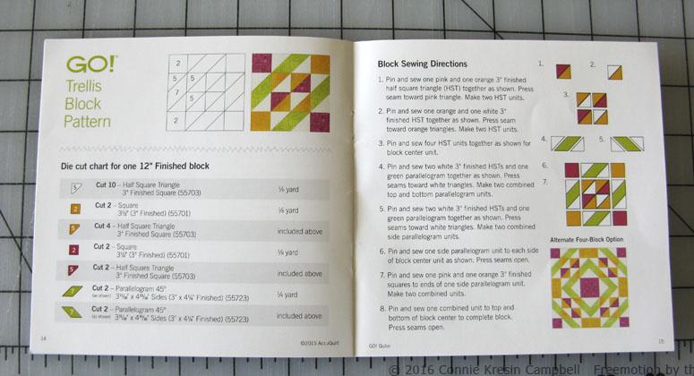Trellis pattern in book