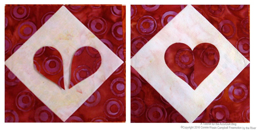 Creating hearts easily with the AccuQuilt GO! feather die