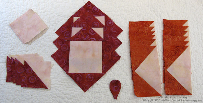 Block pieces easily cut with the AccuQuilt GO! Electric cutter