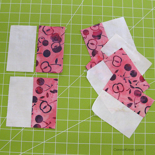 Churn Dash AccuQuilt die rectangle pieces