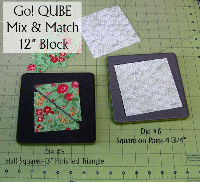 "GO! QUBE Mix & Match 12"" block dies"