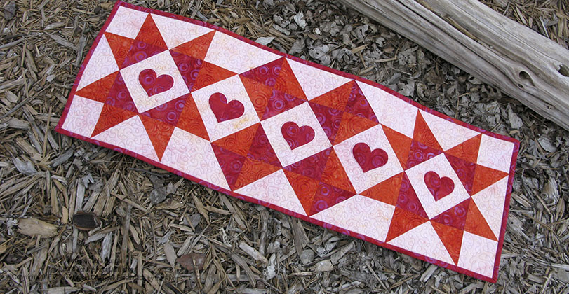 Fast and Easy Table Runner made with batik fabrics