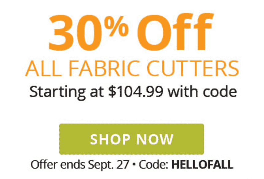 Find Fabulous Fall Projects - 30% Off Your Order when you spend $75 or more - Shop Now - Offer ends Sep. 27 - Use Code HELLOFALL