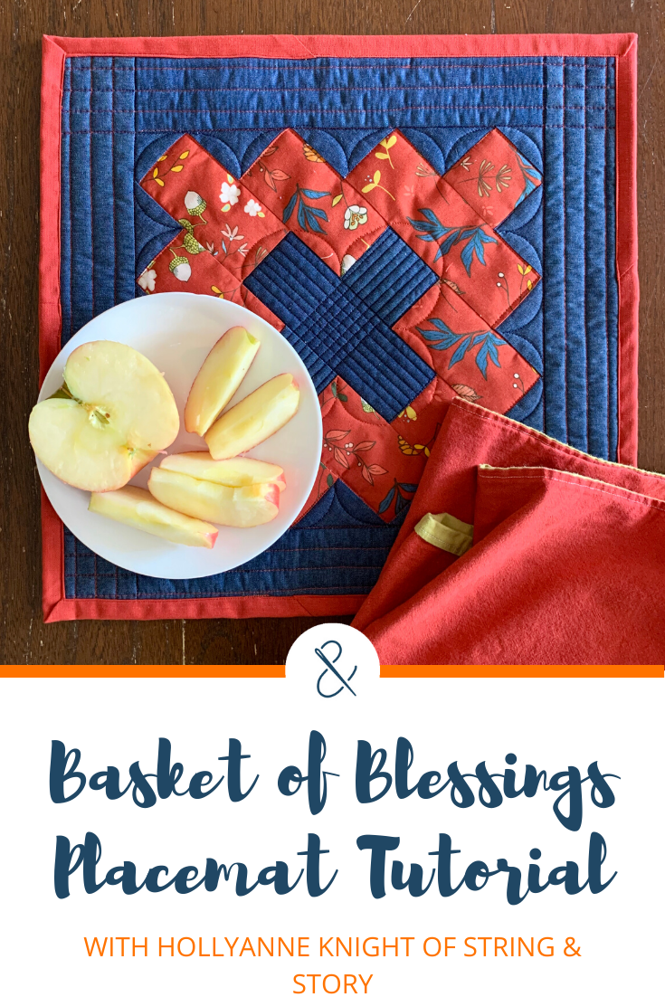 chimney sweep quilted placemat apples