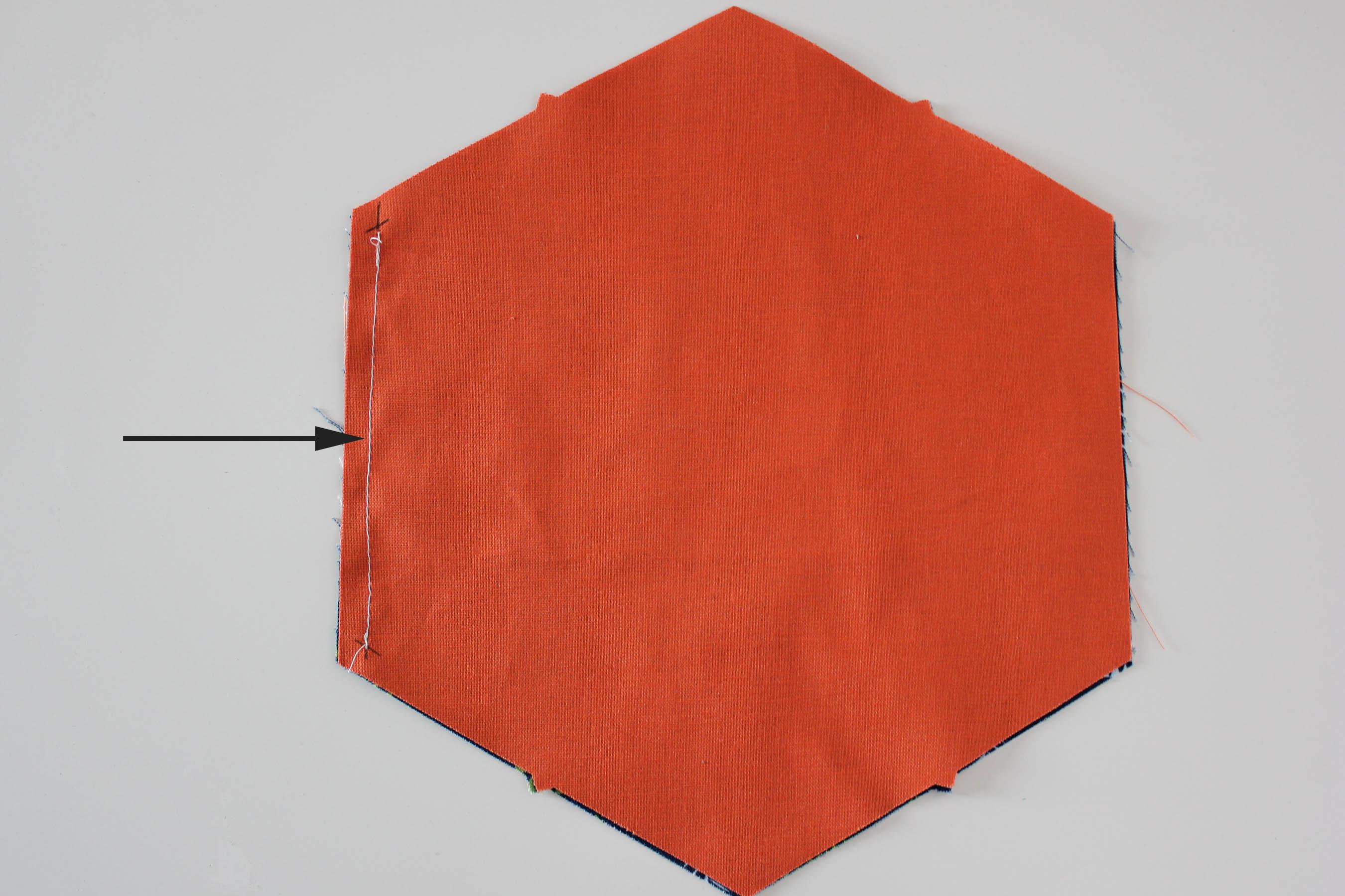 hexagon seam quarter inch