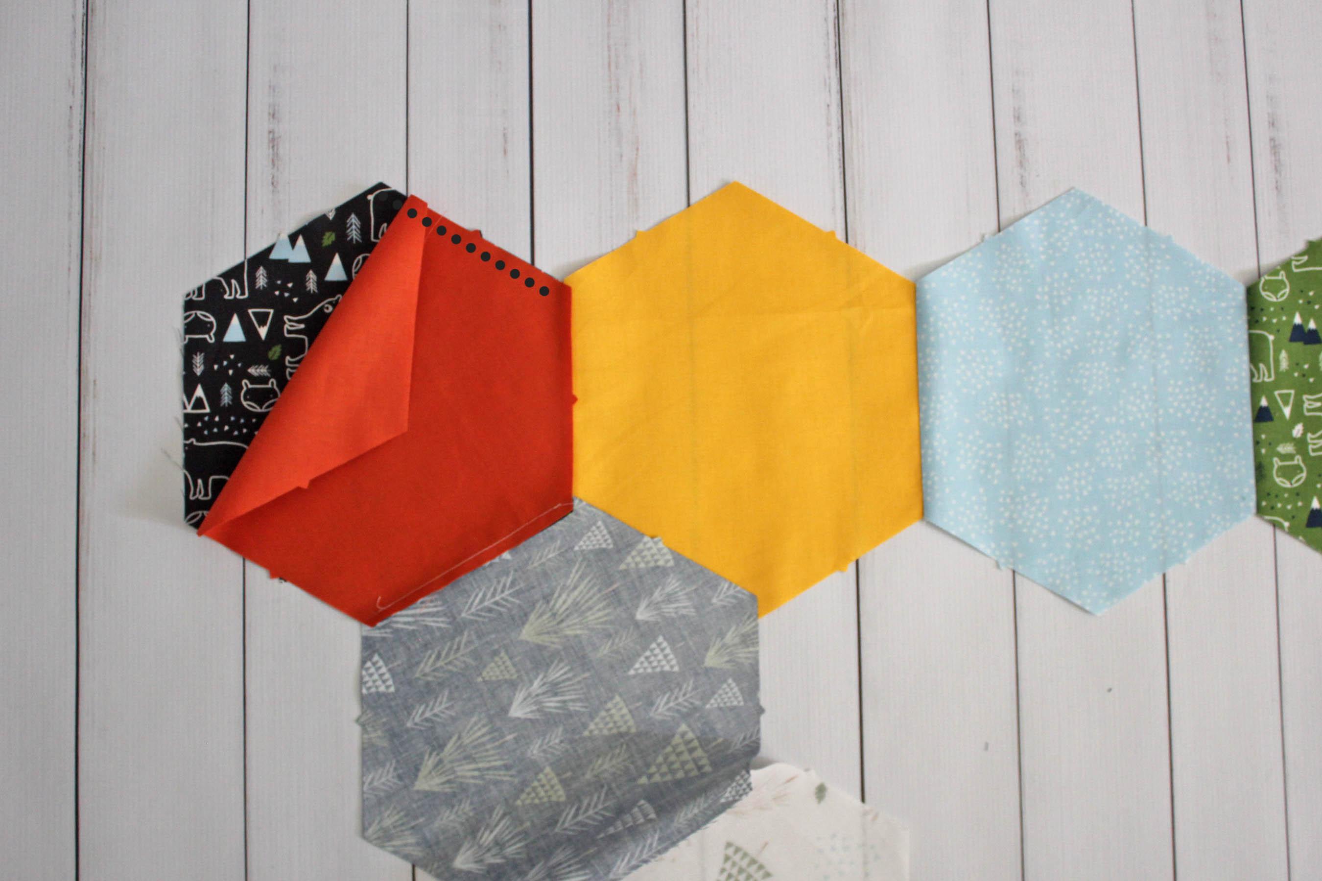 y seam hexagon row constructions