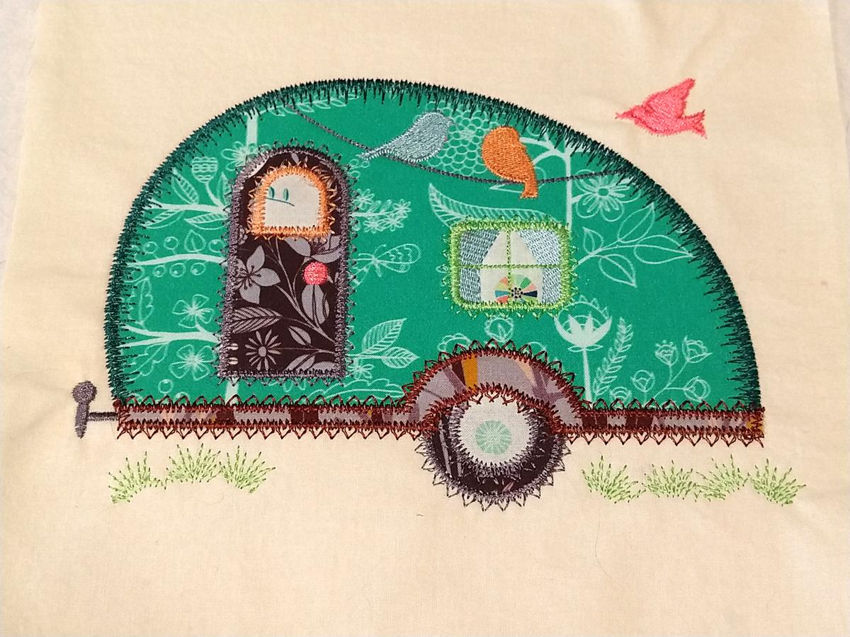 camper stitched block