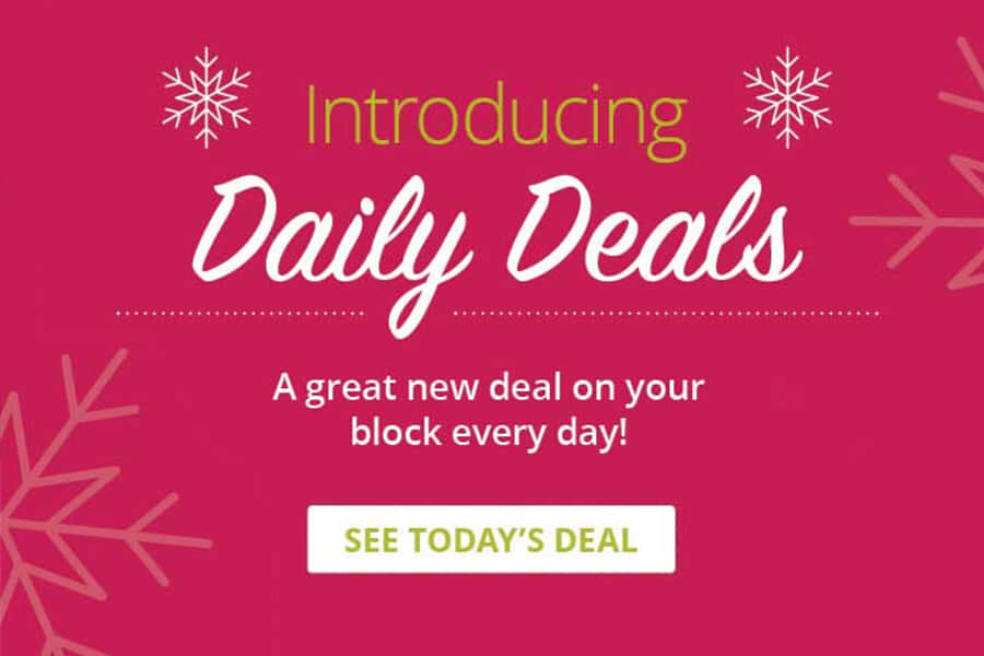 Introducing Daily Deals - A great new deal on your block every day! Click to See Today's Deal