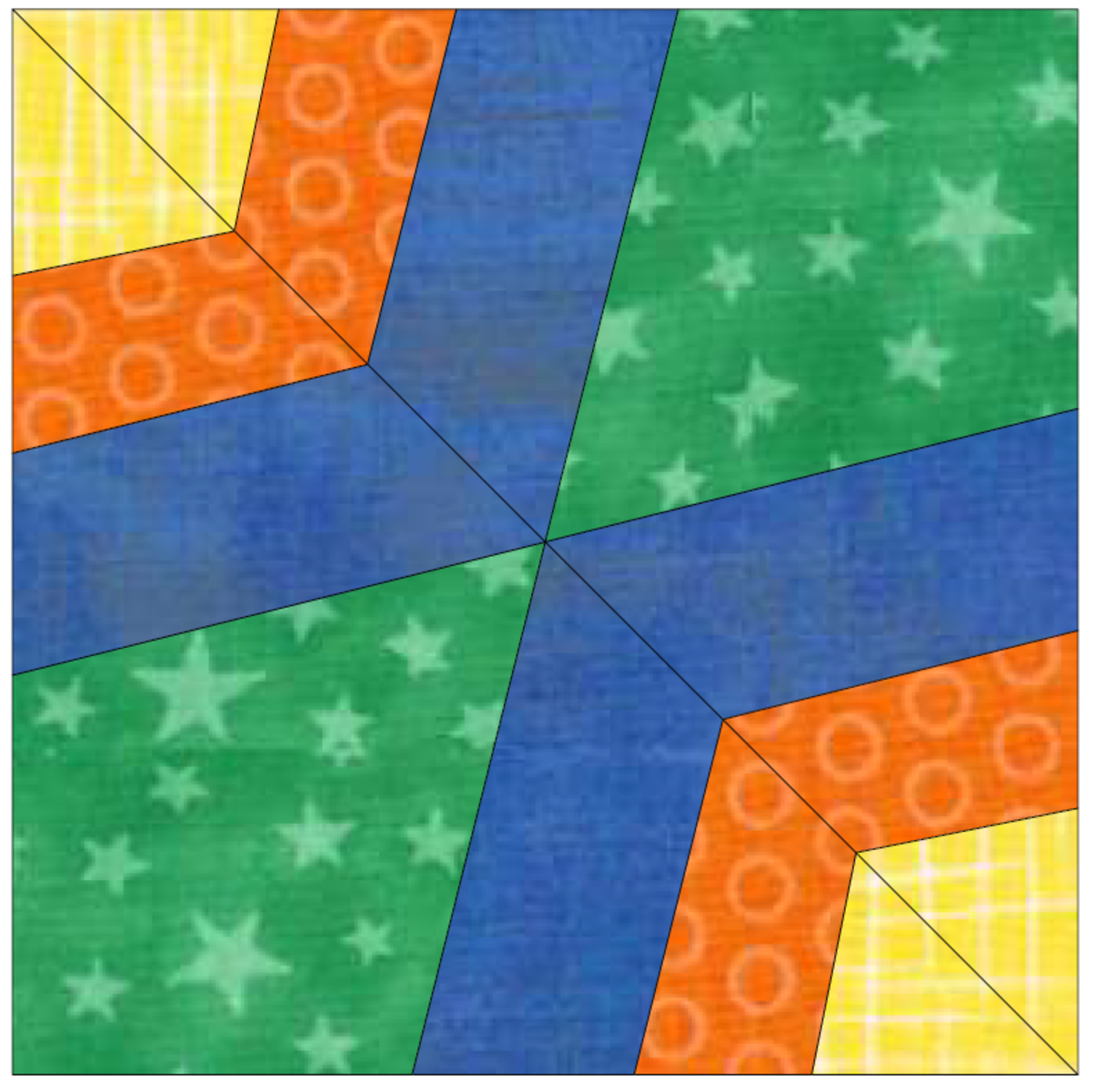 diagram 2 spider web quilt block